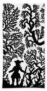 Silhouette, 19th Century Beach Towel