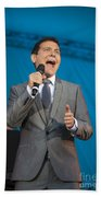 Singer Michael Feinstein Performing With The Pasadena Pops. Beach Towel