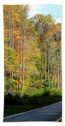 Smoky Mountain Road Trip Beach Towel
