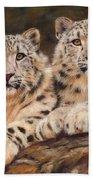 Snow Leopards Beach Towel