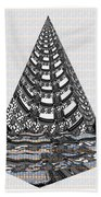 Sparkle Bnw White Pyramid Dome Ancient Arch Architecture Formation Obtained During Deep Meditation W Beach Towel