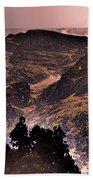 Starry Night Landscape Beach Towel