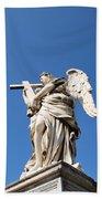 Statue In Vatican City Beach Towel