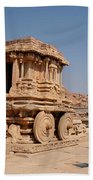 Stone Chariot At Vittala Temple  Beach Towel