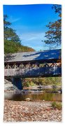 Sunday River Covered Bridge Beach Towel