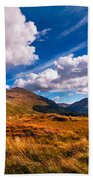 Sunny Day At Rest And Be Thankful. Scotland Beach Towel