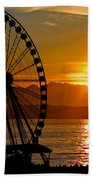 Sunset Ferris Wheel Beach Towel