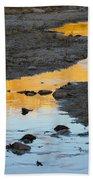 Sunset Reflected In Stream, Arizona Beach Towel