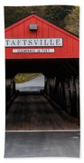 Taftsville Covered Bridge Vermont Beach Towel