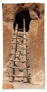 Talus House Front Door Bandelier National Monument Beach Towel