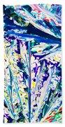 Tartaric Acid Crystals In Polarized Light Beach Towel