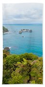 Tasman Sea At West Coast Of South Island Of New Zealand Beach Towel