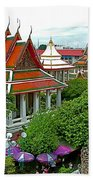 Temple Of The Dawn-wat Arun In Bangkok-thailand Beach Towel