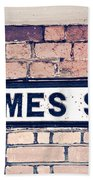 Thames Side Beach Towel