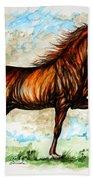 The Chestnut Arabian Horse Beach Towel