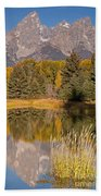 The Grand Tetons Schwabacher Landing Grand Teton National Park Beach Towel