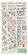 The Greenwich Village Map Beach Towel