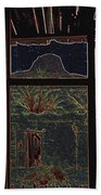 The Lonely Trail Homage 1936 Cabezon Peak Ghost Town Cabezon New Mexico 1971 Beach Towel