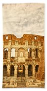 The Majestic Coliseum - Rome Beach Towel by Luciano Mortula