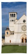 The Papal Basilica Of St. Francis Of Assisi  Beach Towel