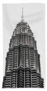 The Petronas Towers Beach Towel