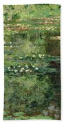 The Waterlily Pond Beach Towel