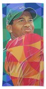 Tiger Woods Beach Towel