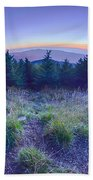 Top Of Mount Mitchell After Sunset Beach Towel