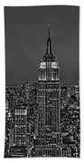 Top Of The Rock Bw Beach Towel