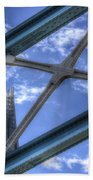 Tower Bridge And The Shard Beach Towel