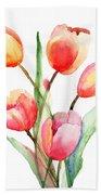 Tulips Flowers Beach Towel