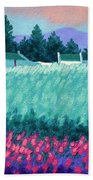 Turquoise Meadow Beach Towel