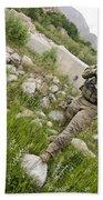 U.s. Army Specialist Walks Beach Towel