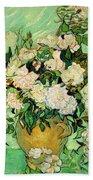 Van Gogh's Roses Beach Towel