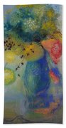 Vase Of Flowers Beach Towel by Odilon Redon
