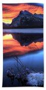 Vermillion Lakes Mount Rundle Beach Towel