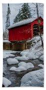 Vermonts Moseley Covered Bridge Beach Towel