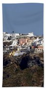 Views Of Santorini Greece Beach Towel