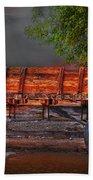 Wagons East Beach Towel by Gunter Nezhoda