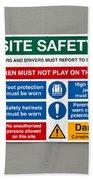 Warning Sign Beach Sheet