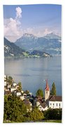 Weggis Switzerland Beach Towel