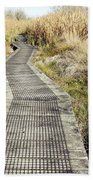 Wetland Walk Beach Towel by Les Cunliffe