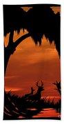 Wetland Wildlife - Sunset Sky Beach Towel