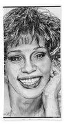 Whitney Houston In 1992 Beach Towel