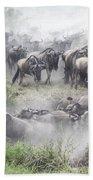 Wildebeest Migration 1 Beach Towel
