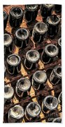 Wine Bottles Beach Towel by Elena Elisseeva