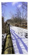 Winter On Macomb Orchard Trail Beach Towel