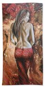 Woman's Portrait Beach Towel