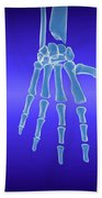 X-ray View Of Human Hand Beach Towel