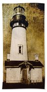 Yaquina Head Lighthouse - Oregon Beach Towel